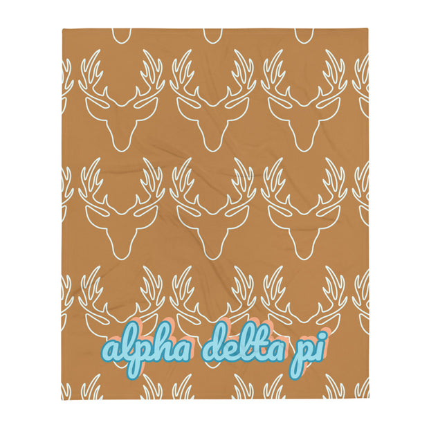 Alpha Delta Pi Deer Throw Blanket