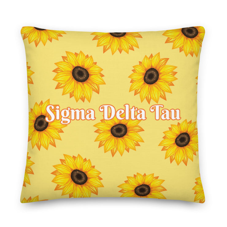 Sigma Delta Tau Sunflower Premium Pillow