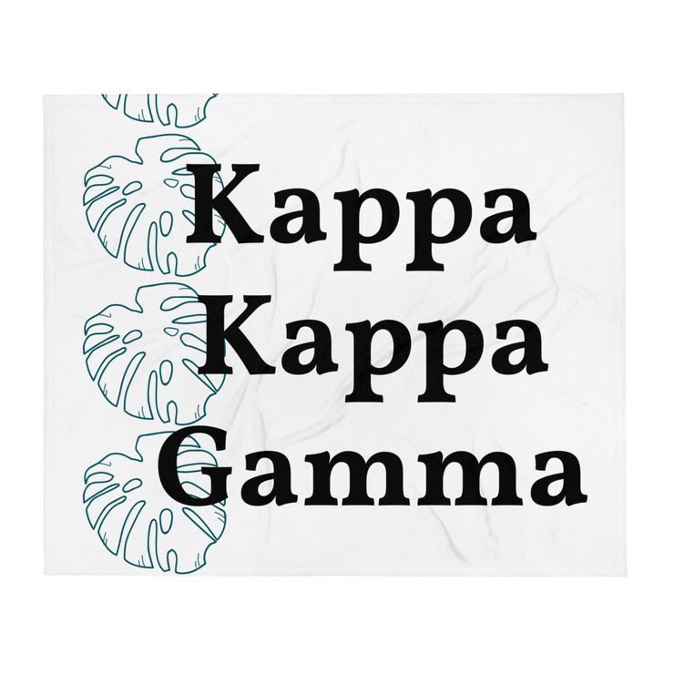 Kappa Kappa Gamma Simple Leaf Throw Blanket