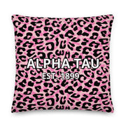 Alpha Sigma Tau Cheetah Premium Pillow