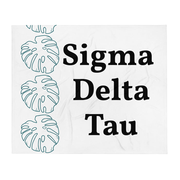 Sigma Delta Tau Simple Leaf Throw Blanket
