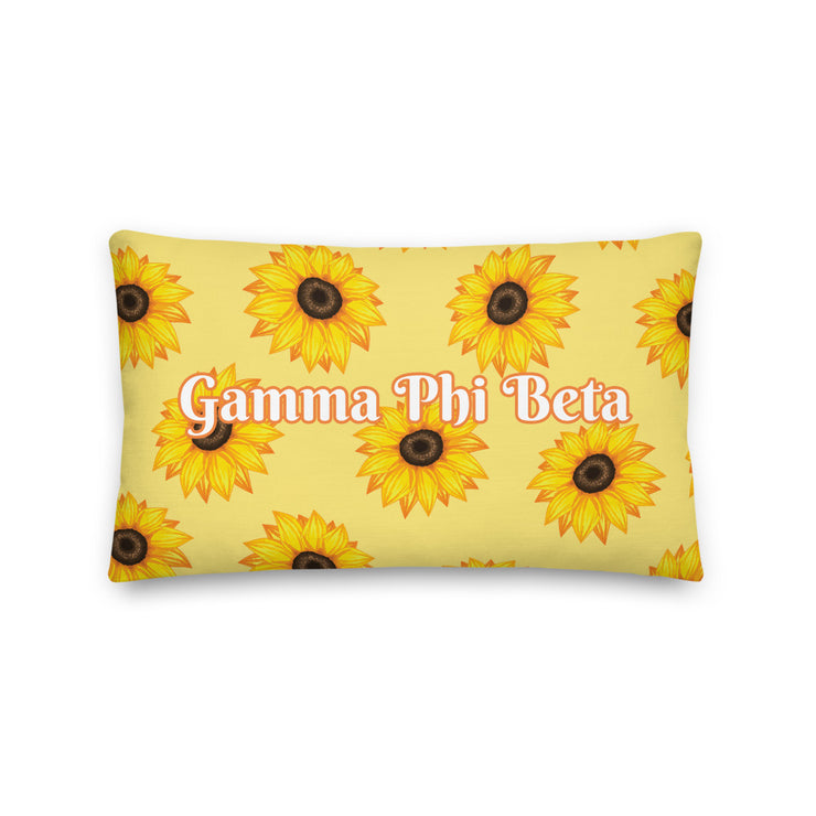 Gamma Phi Beta Sunflower Premium Pillow