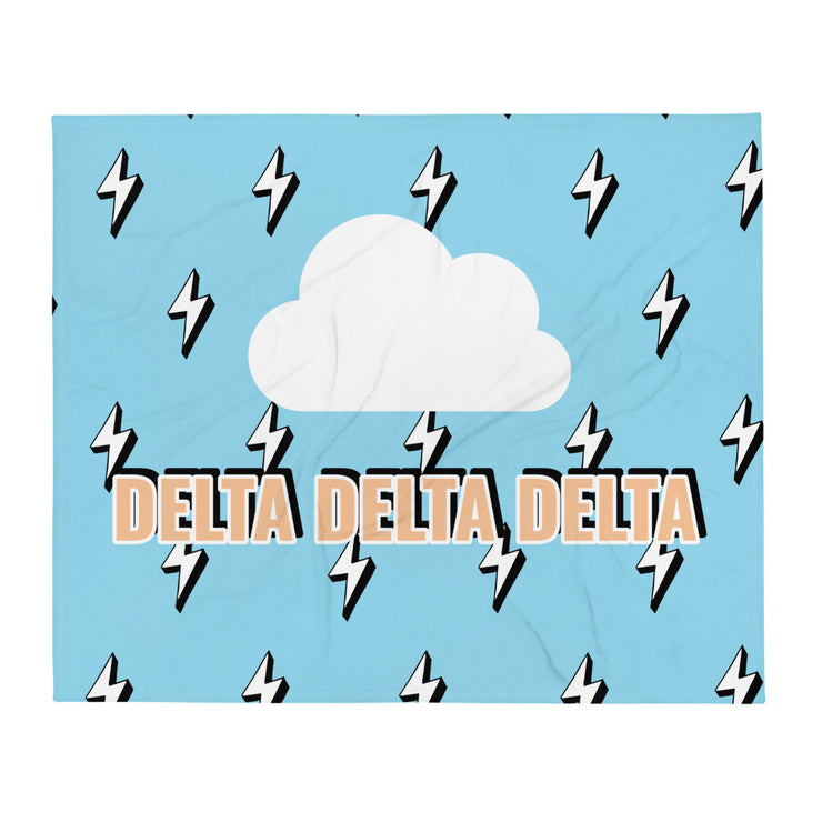 Delta Delta Delta Lightning Throw Blanket