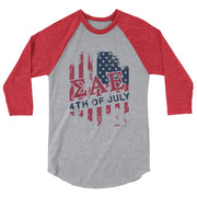 ΣΑΕ USA 3/4 sleeve raglan shirt