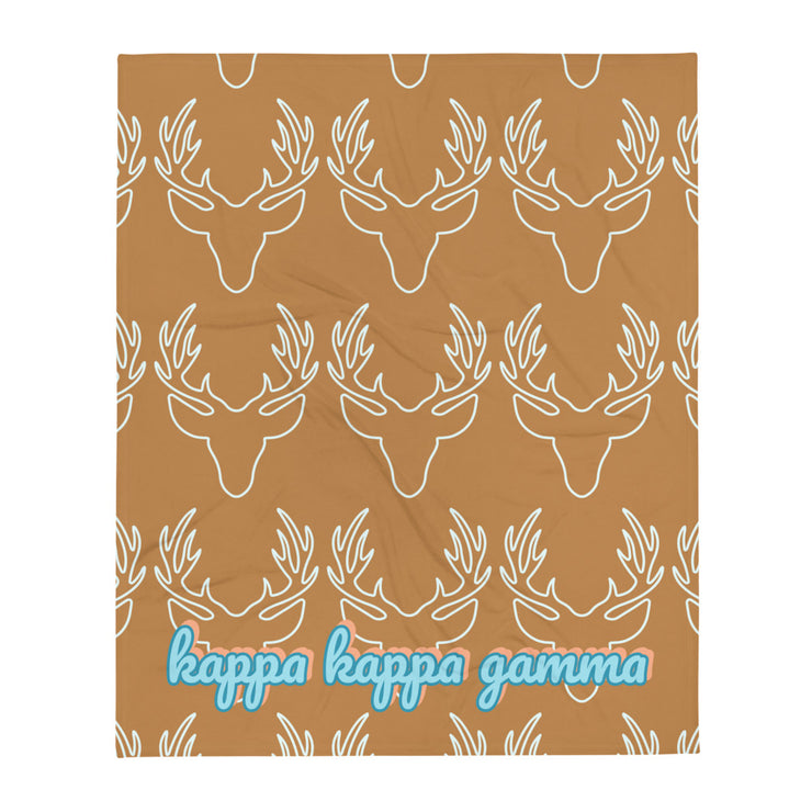 Kappa Kappa Gamma Deer Throw Blanket