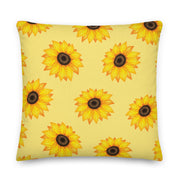 Delta Zeta Sunflower Premium Pillow