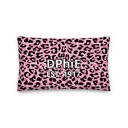 Delta Phi Epsilon Cheetah Premium Pillow