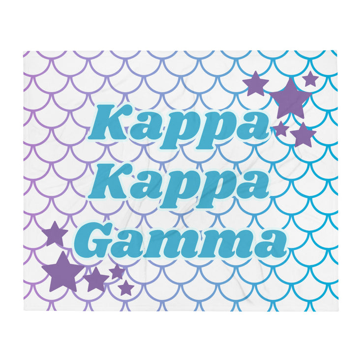 Kappa Kappa Gamma Mermaid Throw Blanket