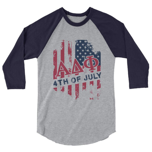 ΑΔΦ USA 3/4 sleeve raglan shirt