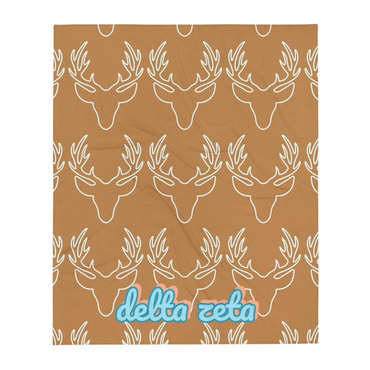 Delta Zeta Deer Throw Blanket