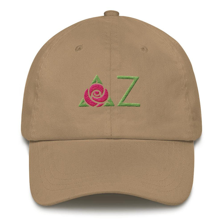 ΔΖ Letter Logo Dad hat
