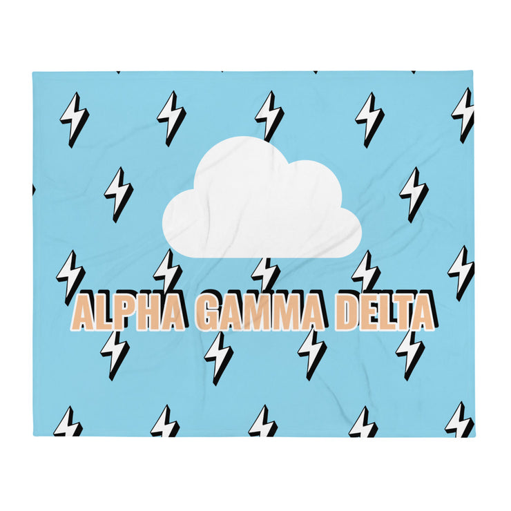 Alpha Gamma Delta Lightning Throw Blanket