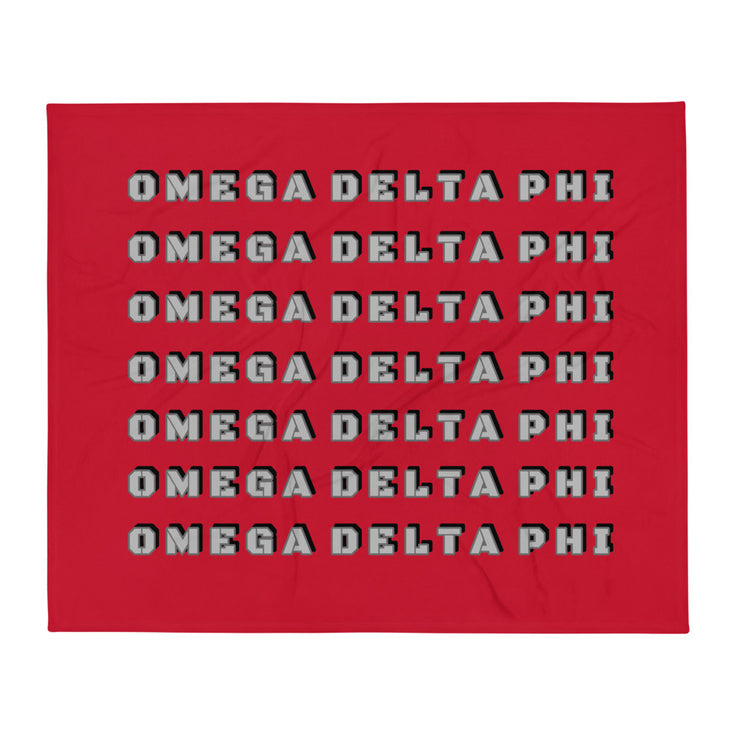 Omega Delta Phi Retro Throw Blanket