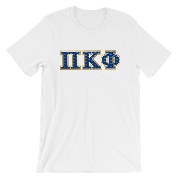ΠΚΦ Greek Lettered Short-Sleeve Unisex T-Shirt