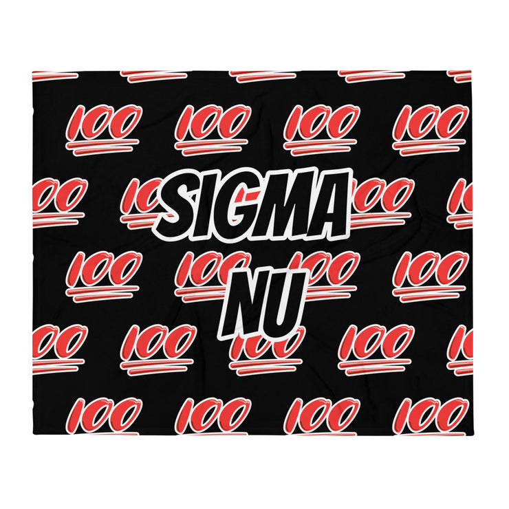 Sigma Nu 100 Throw Blanket