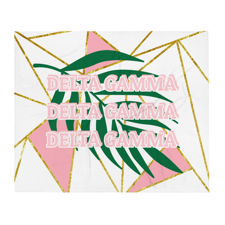 Delta Gamma Summer Fun Throw Blanket