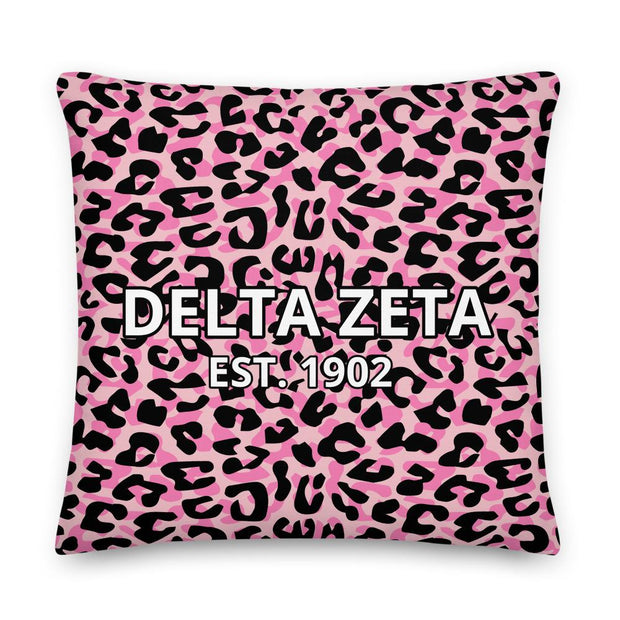 Delta Zeta Cheetah Premium Pillow