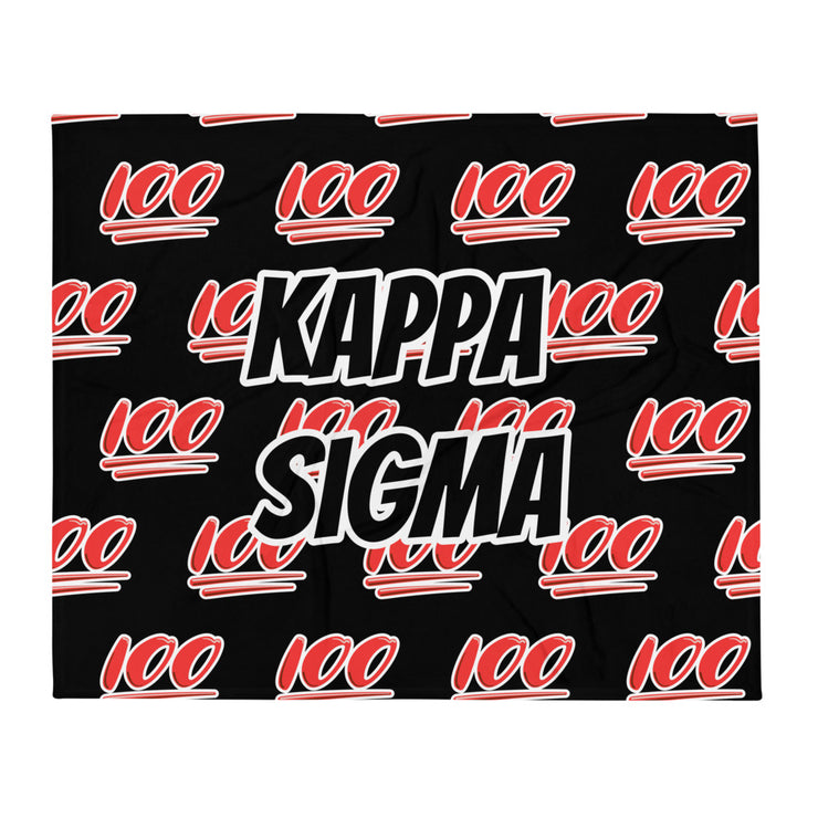 Kappa Sigma 100 Throw Blanket