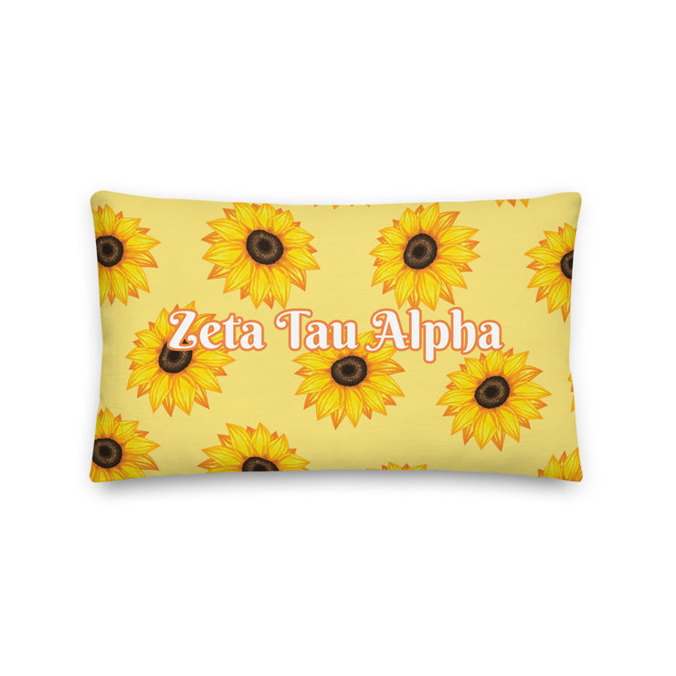 Zeta Tau Alpha Sunflower Premium Pillow