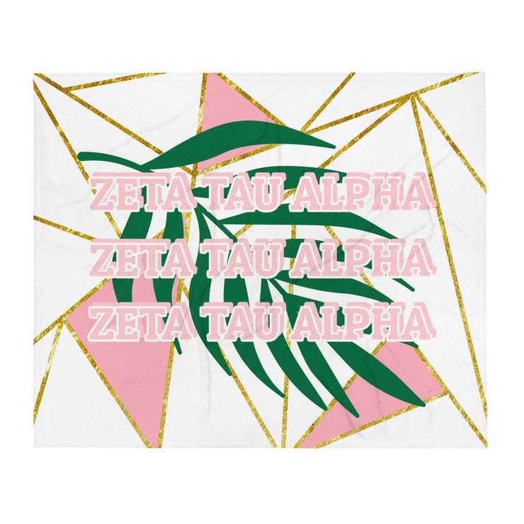 Zeta Tau Alpha Summer Fun Throw Blanket