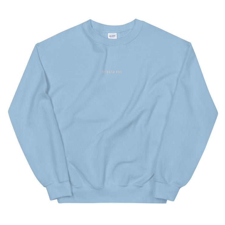 Pi Beta Phi Casual Embroidered Unisex Sweatshirt