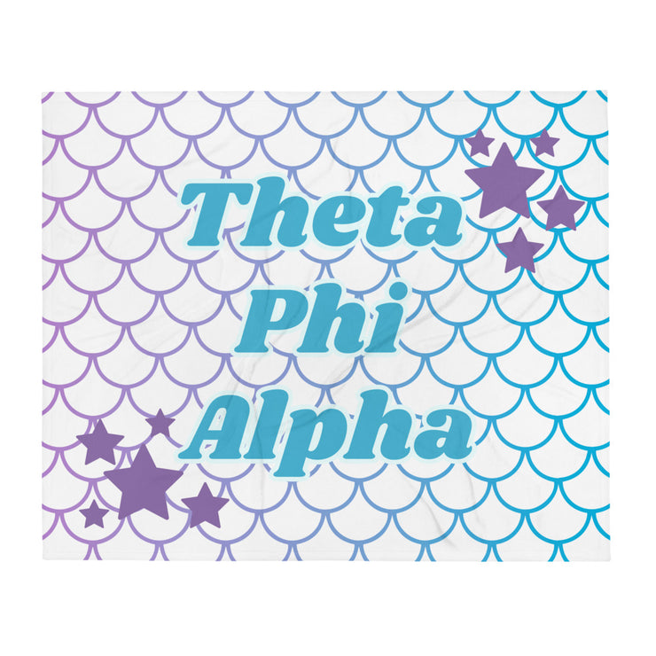 Theta Phi Alpha Mermaid Throw Blanket