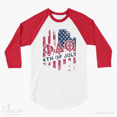 ΦΔΘ USA 3/4 sleeve raglan shirt