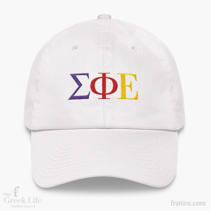 Sig Ep Letters Dad hat