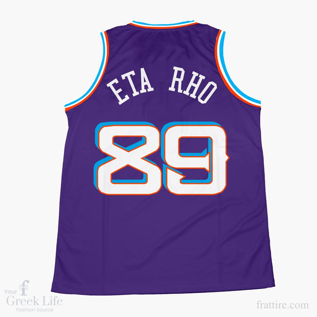 Zeta Beta Tau Mountain Basketball Jersey