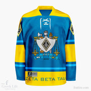Zeta Beta Tau Crest Hockey Jersey