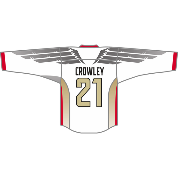 Philadelphia Wings White CROWLEY Replica Jersey