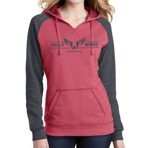 District ® Women's Lightweight Fleece Raglan Hoodie