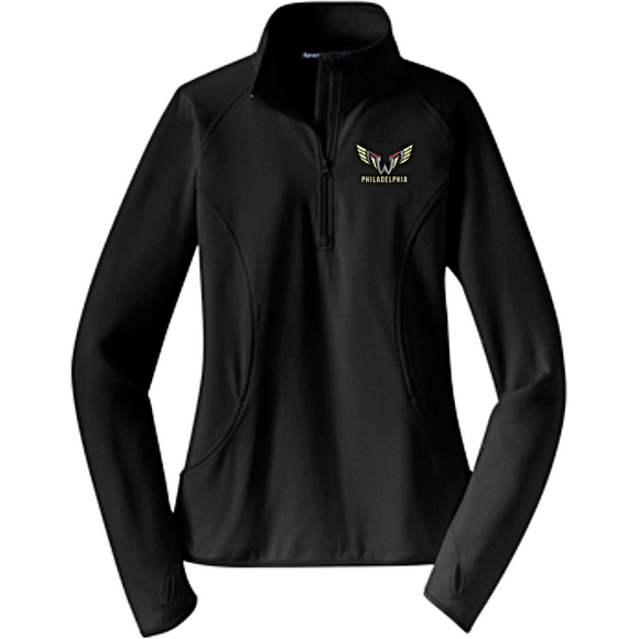 Sport Tek Womens Stretch Half Zip Pullover - Zip