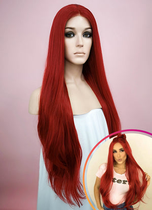 Straight Red Lace Front Synthetic Wig LW150C - Wig Is Fashion Australia