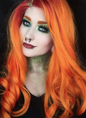 Wavy Mixed Orange Lace Front Synthetic Wig LF383 - Wig Is Fashion Australia