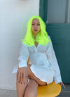 Neon Yellow Straight Bob Lace Front Synthetic Wig LF475 - Wig Is Fashion Australia