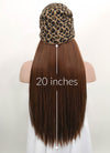 Leopard Beanie With Straight Brown Hair Attached CW010 - Wig Is Fashion Australia