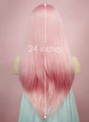 Pastel Pink Straight Lace Front Synthetic Wig LF026 - Wig Is Fashion Australia