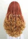 Light Auburn Yellow Blonde Ombre Wavy Lace Front Synthetic Wig LF085H
