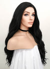 Wavy Natural Black Lace Front Synthetic Wig LF095 - Wig Is Fashion Australia