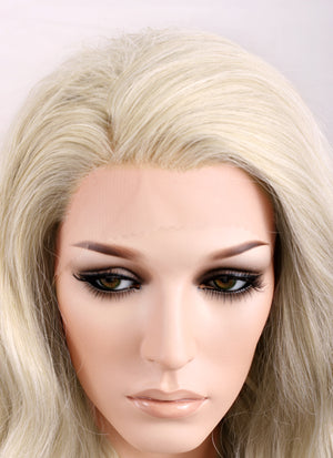 Wavy Light Ash Blonde Lace Front Synthetic Wig LF101 - Wig Is Fashion Australia
