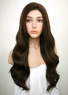 Brunette Wavy Lace Front Synthetic Wig LF117 - Wig Is Fashion Australia