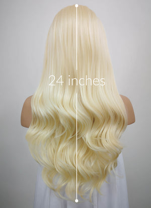 Wavy Light Blonde Lace Front Synthetic Wig LF120 - Wig Is Fashion Australia