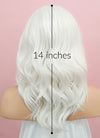 White Wavy Lace Front Synthetic Wig LF1258 - Wig Is Fashion Australia