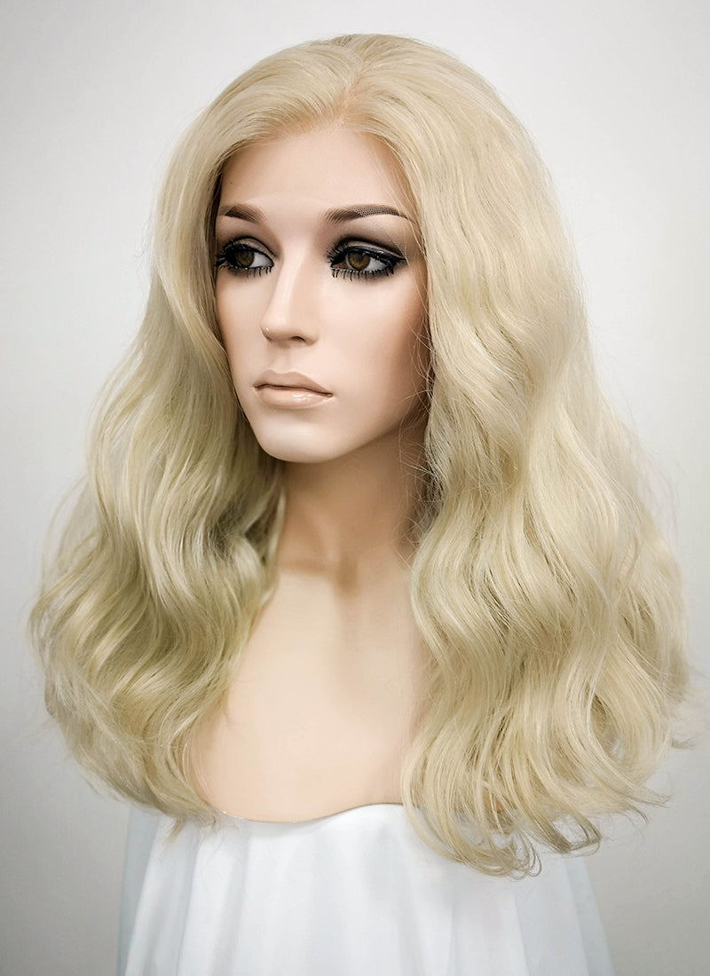Light Ash Blonde Wavy Lace Front Synthetic Wig LF1263 - Wig Is Fashion Australia
