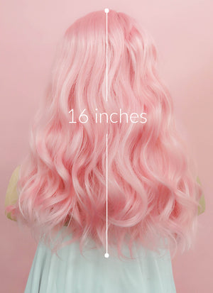 Pink Wavy Lace Front Synthetic Wig LF1269 - Wig Is Fashion Australia