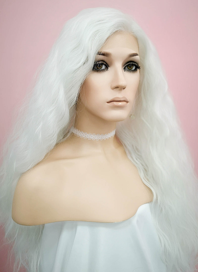 White Wavy Lace Front Synthetic Wig LF1275 - Wig Is Fashion Australia