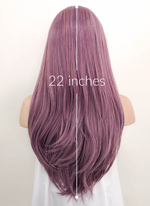 Purple Straight Lace Front Synthetic Wig LF1298 - Wig Is Fashion Australia
