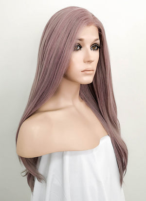 Ash Purple Straight Lace Front Synthetic Wig LF1299 - Wig Is Fashion Australia