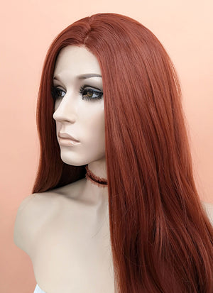 Auburn Wavy Lace Front Synthetic Wig LF147 - Wig Is Fashion Australia